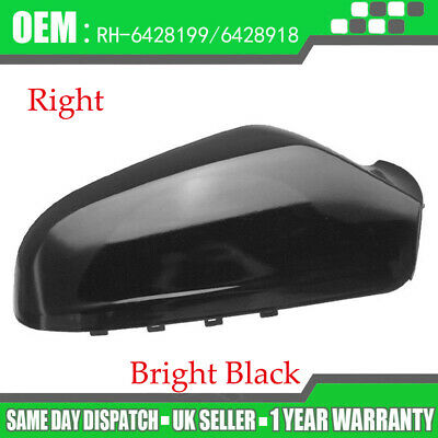 Vauxhall Astra H MK5 Wing Mirror Cover Cap Casing Right / NSF 04-09 Gloss Black