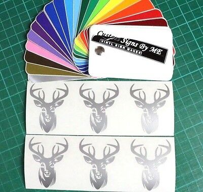 6x Personalised Wine Glass Stag Head Stickers Vinyl Decals Adhesive Gift Card SL