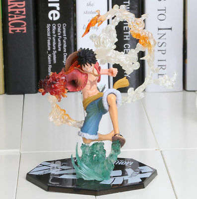 Anime One Piece POP Monkey D Luffy Battle Ver Figure Japan Loose Toy Gift in Box