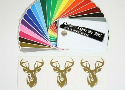 3x Personalised Wine Glass Stag Head Stickers Vinyl Decals Adhesive Gift Card GL