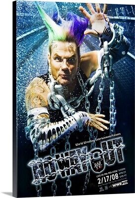 Solid-Faced Canvas Print Wall Art entitled WWE No Way Out (2003)