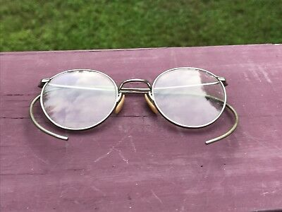 Antique A. O. Co. Ful Vue 2 Glasses Art Deco Glasses Spectacles Aesthetic #14