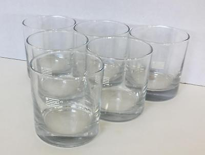 SET OF 6 U.S. Airways 10.5 Oz Rocks Glasses Anchor Hocking
