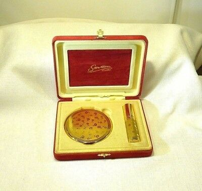 Vintage Stratton London Compact & Atomizer In Original Display Presentation Box