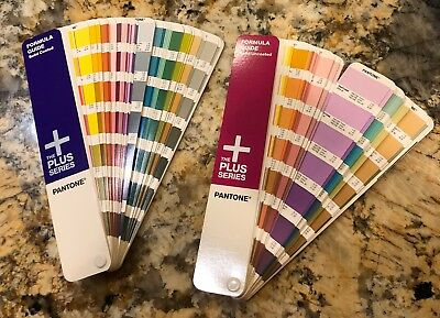 Pantone Plus - Solid Coated + Solid Uncoated Guide Books Like New!