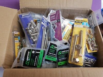 Wholesale~Joblot~50 Assorted Packs Of~Fixings~Screws~Bolts~Nails~Nuts~Hardware~