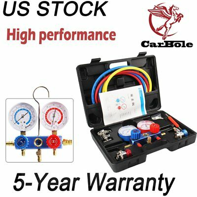 HVAC A/C Refrigeration Kit AC Manifold Gauge Set Brass R134A Auto R134a R12 R22