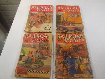 Vintage Lot of 4 Railroad Magazines May 1935, Apr., Aug., & Sept. 1936