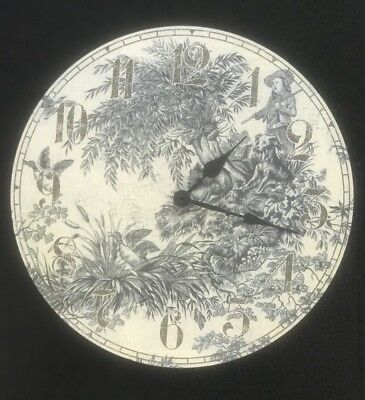 "Artsy Feminine Aged French Toile 14"" Vintage Style Wall Clock"