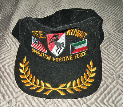 Desert Storm 11th Armored Cavalry Regiment OPERATION POSITIVE FORCE Hat Cap FLAG