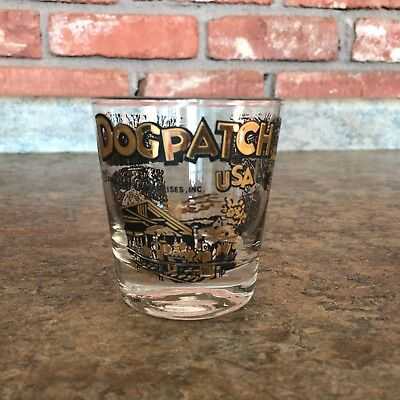 Rare Vintage 1968 Dogpatch USA glass cup tumbler Capp Enterprises, Inc. Arkansas