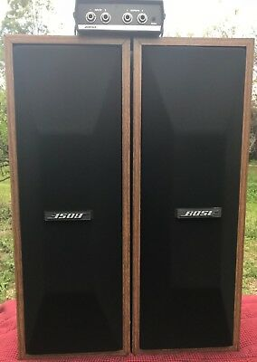 BOSE PROFESSIONAL SPEAKERS X 2 model #402-W with EQUALISER model #402-E