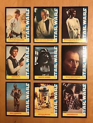 1977 STAR WARS WONDER BREAD Complete 16 Card Set 20th Century Fox