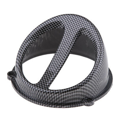 Carbon Fiber Look Air Scoop Fan Cover Cap for GY6 125cc 150cc Scooter