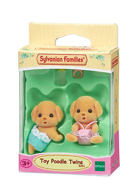 5261 Sylvanian Families Toy Poodle Twins x2 Figures & Accessories Age 3 years+