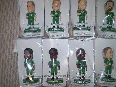 Saskatchewan Roughriders Wiser's CFL Bobblehead set x 8 Grey Cup 2013 MINT! GIFT