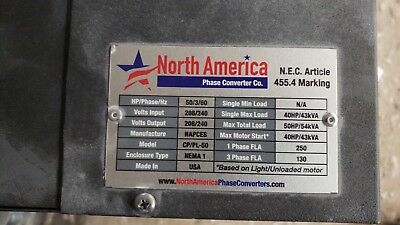 PL-50 Pro-Line 50HP Rotary Phase ConverterMade In USA