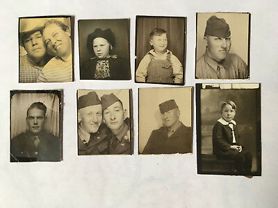 Mixed lot of 8 Vintage Photobooth Photo Arcade booth