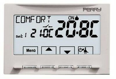 "Perry 1TI TE541  Termostato digitale ad incasso 230V serie ""MOON"" - SOFT TOUCH"