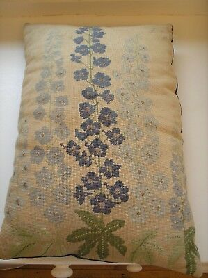 Beautiful  Vintage Embroidered/tapestry Wool Cushion