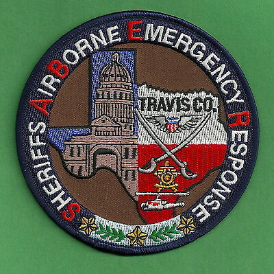 Travis County Sheriff Texas Air Unit Police Rescue Patch