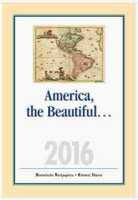 "USA Aktien Kalender 2016 ""America, the Beautiful"" Banknote Brands Aviation DEKO"