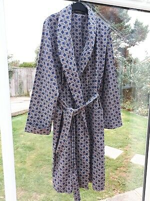 Quality Vtg 1960s Mens Lloyd Attree & Smith Dressing Gown Robe Smoking Jacket L