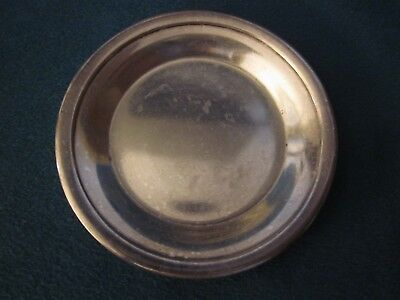 Silver plate Butter Pat the Roosevelt New York