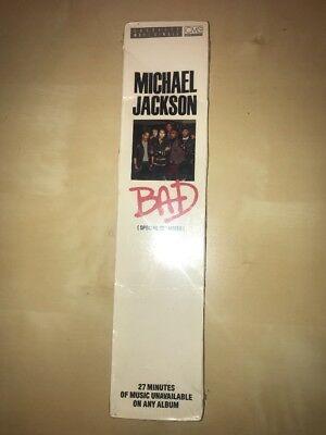 "Michael Jackson SEALED BAD Special 12"" 5 Track Cassette Smile  Long Box No promo"