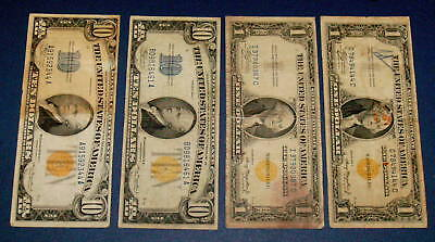 Four 1935 NORTH AFRICA $1 One and 1934 Ten Dollar $10 WW ll Overprint Note