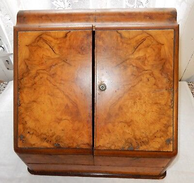 Victorian / Edwardian Walnut Writing Correspondence / Stationary box