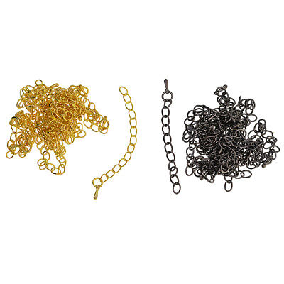 20pcs Black Gold Bracelet Necklace Chain Extender Jewelry Making Findings