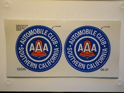 BRAND NEW AAA Automobile Club STICKER Decal Southern California.  (reflective)