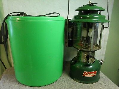 11/65 COLEMAN Double Mantle Lantern Model 220F W/Lantern Caddy and reflector