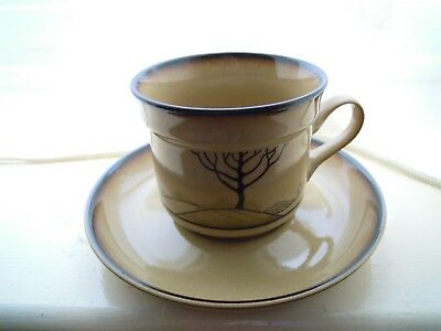 DENBY 'SAVOY' ART DECO STYLE BRAND NEW TEA/COFFEE CUP&SCR NEW&UNUSED 1st QUALITY