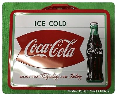 Coca Cola Ice Cold TIn Lunch Box in Mint Condition.