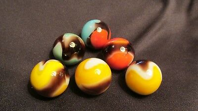 Vintage Marble Lot of Vitro Agate Shooter Marbles