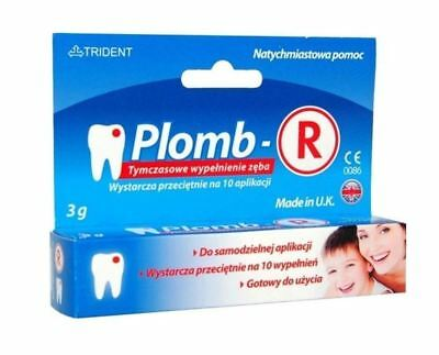 Plomb-R, 3g to repair lost fillings / temporary seal the tooth