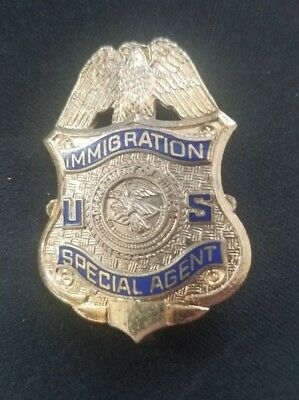 VINTAGE US Immigration Special Agent LARGE pin Ships in 24 hours!