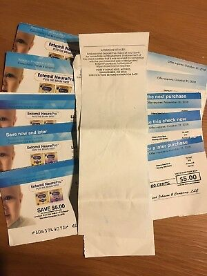 enfamil coupon check $5 x 5 total $25, plus $5 x2 expired coupon.