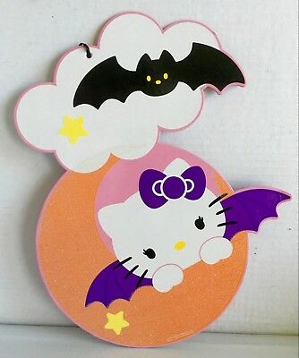 Hello Kitty Halloween Door/Wall Decor 2014 Re-issue of 1976 Item by Sanrio Co.