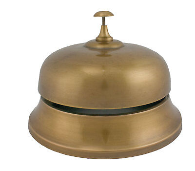 Massive size metal Vintage style Counter Bell - Antique Brass over Aluminum