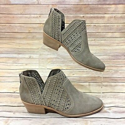 0af5c3cad856 VINCE CAMUTO Womens Size 8 Prasata Booties Leather Taupe Western Ankle Boot  NEW