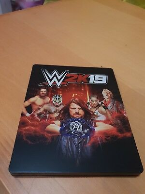 WWE 2K19 Steelbook Case Only (NO GAME)