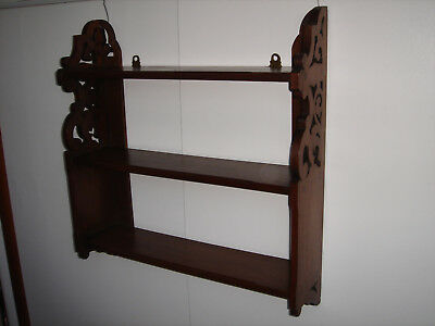 Edwardian Walnut Hanging Shelves