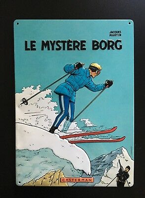 Jacques Martin *** Plaque Emaillee Guy Lefranc - Le Mystere Borg *** Casterman