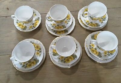 Royal Vale Yellow Rose Tea Set 17 Pieces
