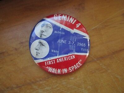 Vintage 1965 Gemini 4 Space Mission First American Astronaut Walk in Space