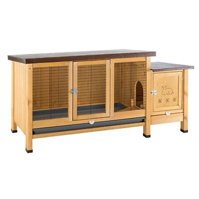 Ranch Small Pet Rabbit Hutch XXL WOODEN Hinged Treated Roof REMOVABLE Tray