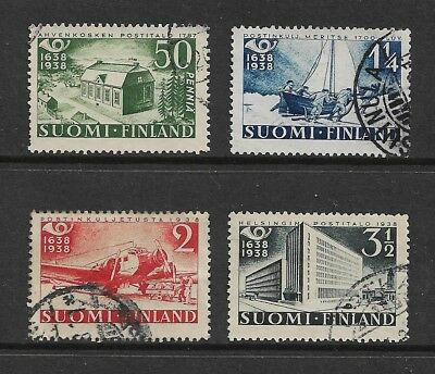 FINLAND 1938 Tercentenary 300th Anniv Finnish Postal Service, set of 4, used